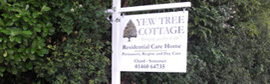 sign showing Yew Tree Cottage