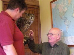 Brian and an Eagle Owl Gallery