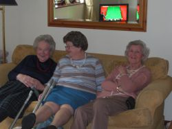 Gwen, Connie and Jean engrossed in the snooker Gallery