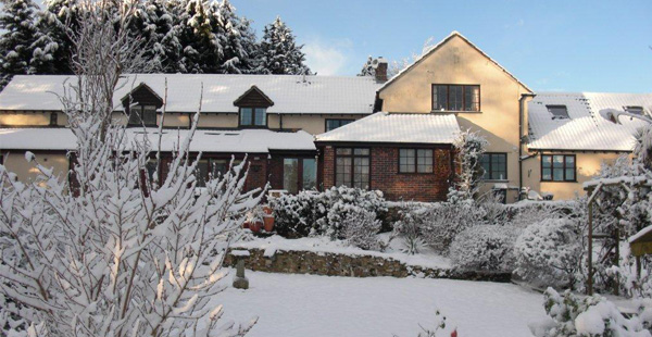 Yew Tree Cottage in Winter